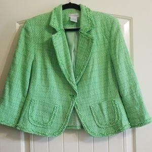 Worthington Green Tweed Blazer